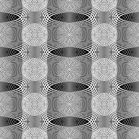 Seamless monochrome grid pattern, abstract background.