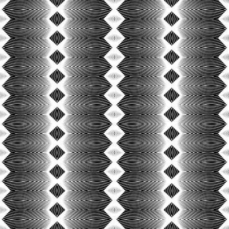 Design seamless monochrome geometric pattern. Abstract background. Vector art. No gradient