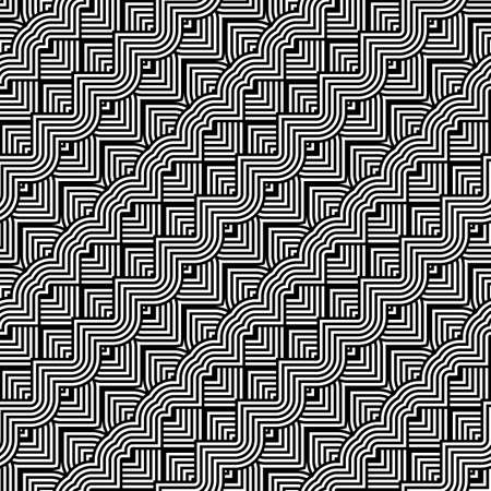 Design seamless monochrome zigzag pattern. Abstract stripy background. Vector art Stock Vector - 84633714