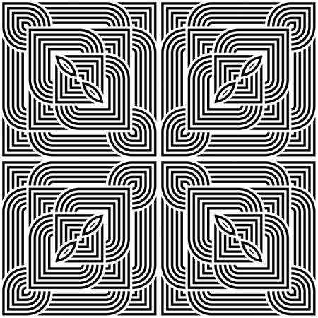 Design seamless monochrome geometric pattern. Abstract stripy background. Vector art Stock Vector - 84633722