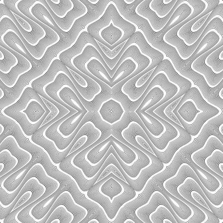 Design seamless monochrome lacy pattern. Abstract decorative background. Vector art. No gradient Illustration