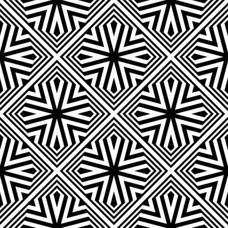 Design seamless monochrome geometric pattern. Abstract striped background. Vector art Stock Vector - 85066893