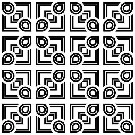 Design seamless monochrome geometric pattern. Abstract stripy background. Vector art Stock Vector - 85067114