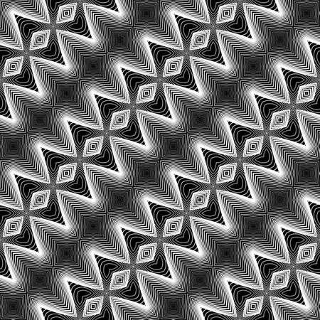 Design seamless monochrome zigzag pattern. Abstract textured background. Vector art. No gradient Illustration