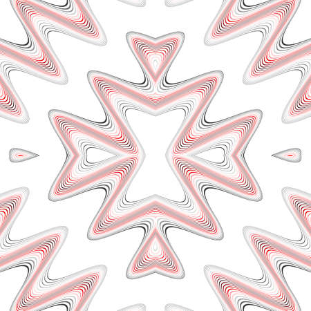Design seamless colorful waving pattern. Abstract background. Vector art. No gradient Illustration