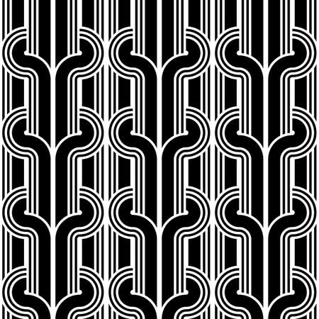 設計のシームレスな白黒パターン。抽象的な背景。ベクター アート