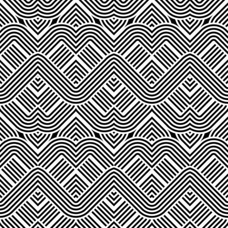 Zigzag pattern. Illustration