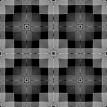 twist: Design seamless monochrome geometric pattern. Abstract background. Vector art. No gradient