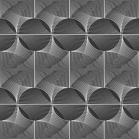 twist: Design seamless monochrome grid pattern. Abstract geometric background. Vector art. No gradient