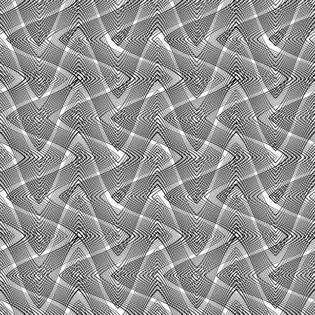 twist: Design monochromatic waving pattern.