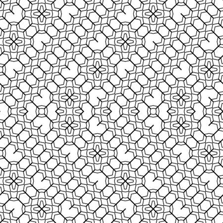 grid pattern: Design seamless monochrome geometric pattern. Abstract zigzag background. Vector art Illustration