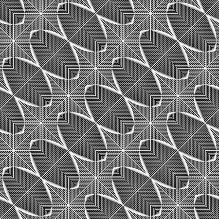 Design seamless monochrome geometric pattern. Abstract grid background. Vector art. No gradient