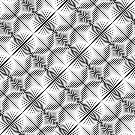 Design seamless monochrome pattern. Abstract zigzag background. Vector art. No gradient Stock Vector - 85907002