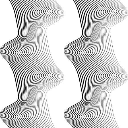 Design seamless monochrome waving pattern. Abstract background. Vector art. No gradient