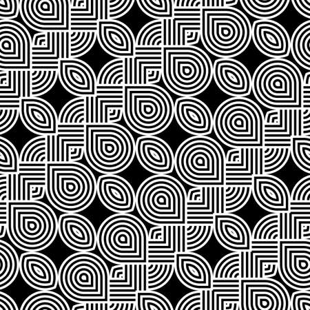 Design seamless monochrome waving pattern. Abstract stripy background. Vector art.