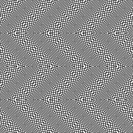 Design seamless monochrome grid pattern. Abstract zigzag background. Vector art. No gradient