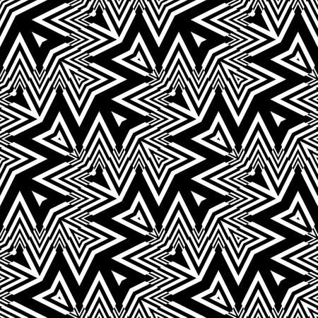 Design seamless monochrome zigzag pattern.