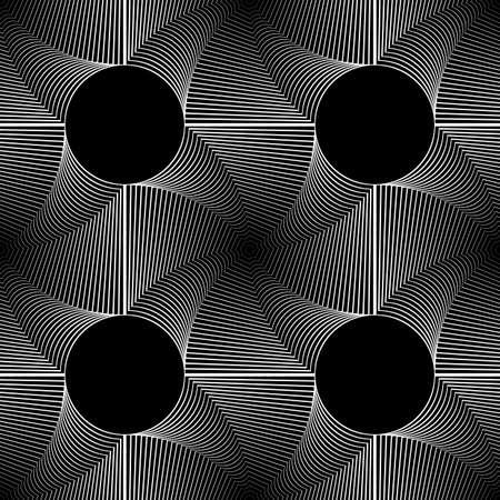 swirl: Design seamless monochrome illusion pattern. Abstract stripe torsion background. Illustration
