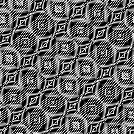 Design seamless monochrome grid pattern. Abstract background Vector art. No gradient