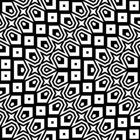 Design seamless monochrome zigzag pattern. Abstract striped background.