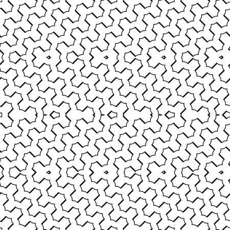 Design seamless monochrome grid pattern. Abstract background. Ilustração