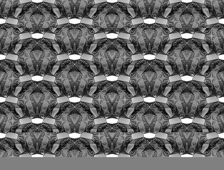 Abstract textured lacy lines pattern design template. Ilustração
