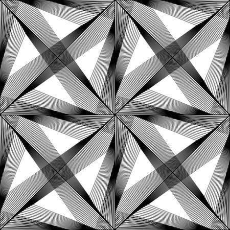 Design seamless monochrome triangle pattern. Abstract lines textured background. Vector art. No gradient