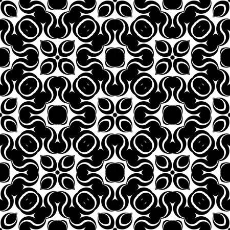 Design seamless monochrome waving pattern. Abstract zigzag background. Vector art