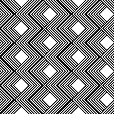 Design seamless monochrome geometric pattern. Abstract stripy background. Vector art