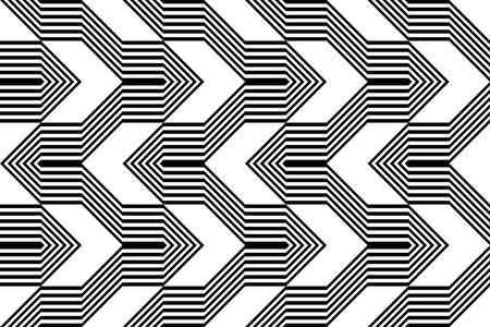 Design seamless monochrome geometric pattern. Abstract stripy background. Vector art Stock Vector - 90092558