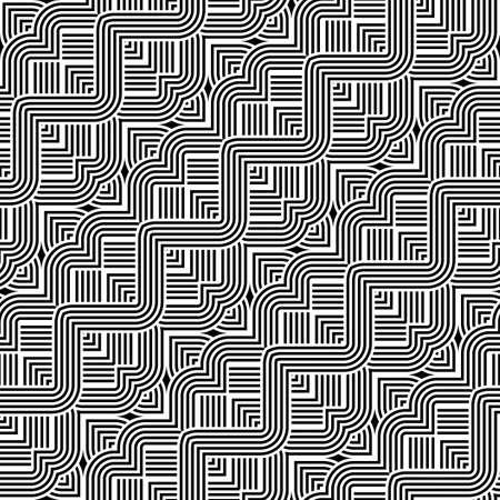 Design seamless monochrome zigzag pattern. Abstract stripy background. Vector art