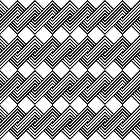 Design seamless monochrome spiral twisted pattern. Abstract background. Vector art Illustration