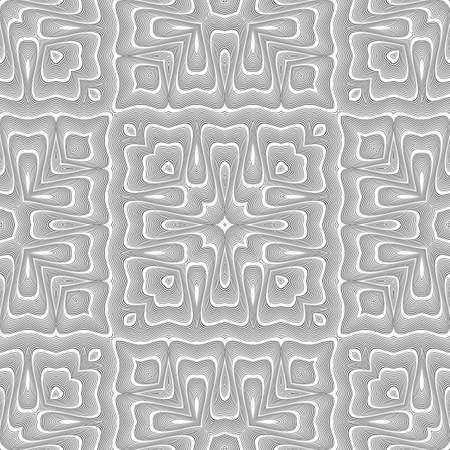Design seamless monochrome lacy pattern. Abstract decorative background. Vector art. No gradient.