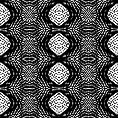 Design seamless monochrome grid pattern. Abstract background. Vector art. No gradient. Stock Vector - 90968112