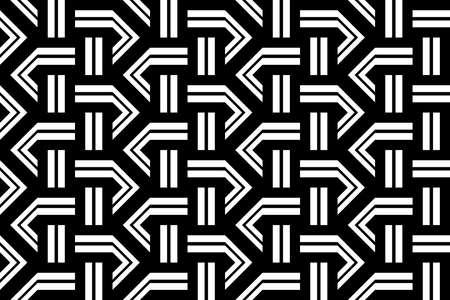 Design seamless monochrome zigzag pattern. Abstract stripy background. Vector art. Illustration