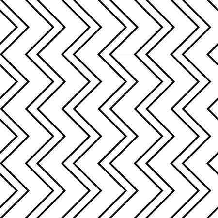 Design seamless monochrome zigzag pattern. Abstract stripy background. Vector art. Illustration