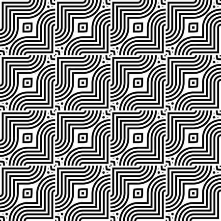 Black and white interlaced pattern. Illustration