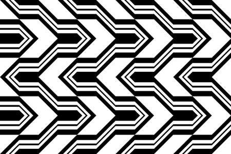 Black and white zigzag pattern.