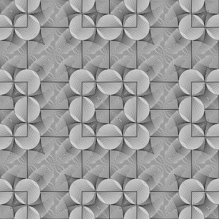 Design seamless monochrome grid pattern. Abstract geometric background. Vector art. No gradient