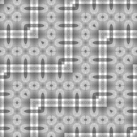 Design seamless monochrome lacy zigzag pattern. Abstract decorative background. Vector art. No gradient
