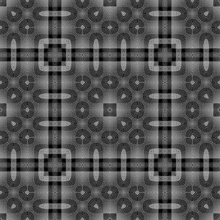 Design seamless monochrome lacy pattern. Abstract decorative background. Vector art. No gradient Illusztráció