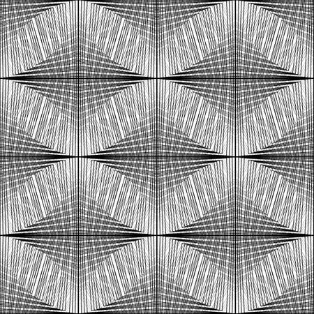 Design seamless monochrome grid pattern. Abstract background, vector illustration. Illustration