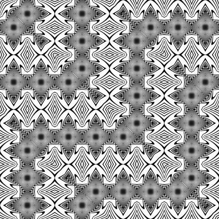 Design seamless monochrome waving decorative pattern. Abstract zigzag background, vector illustration.