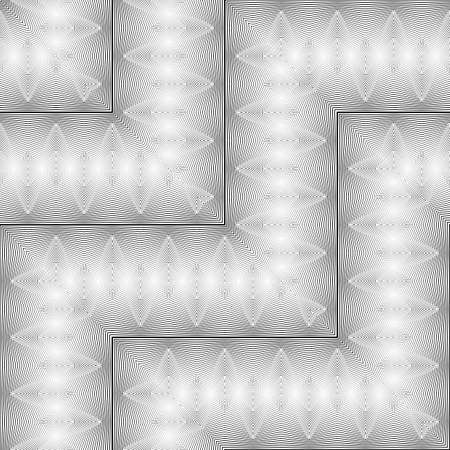 Design seamless monochrome zigzag pattern. Abstract decorative background, vector illustration. Illustration