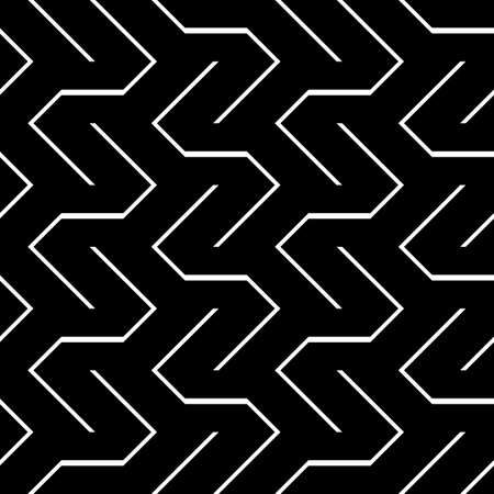 Seamless monochrome zigzag pattern.