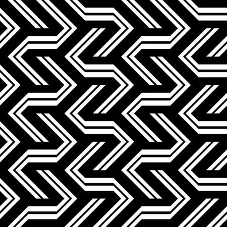 Black and white zigzag pattern.