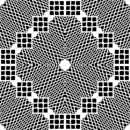 Seamless monochrome geometric pattern.