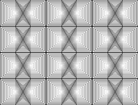 Geometric shape abstract pattern design. Illustration