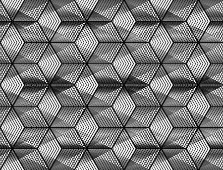 Design seamless monochrome grid pattern. Abstract geometric background vector art.