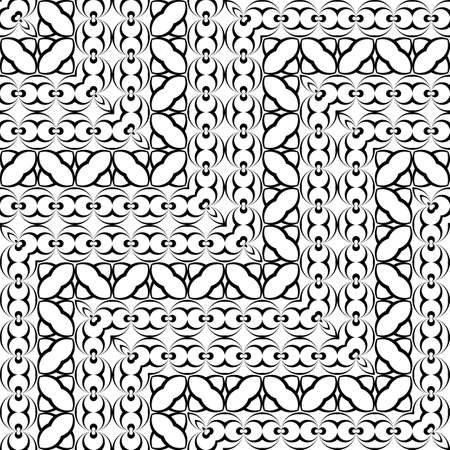 Design seamless monochrome zigzag pattern. Abstract illusion background. Vector art. No gradient illustration. Stock Vector - 92871598